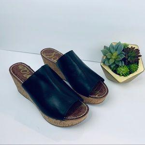 Sam Edelman Remington Platform Wedge Sandal Sz 10